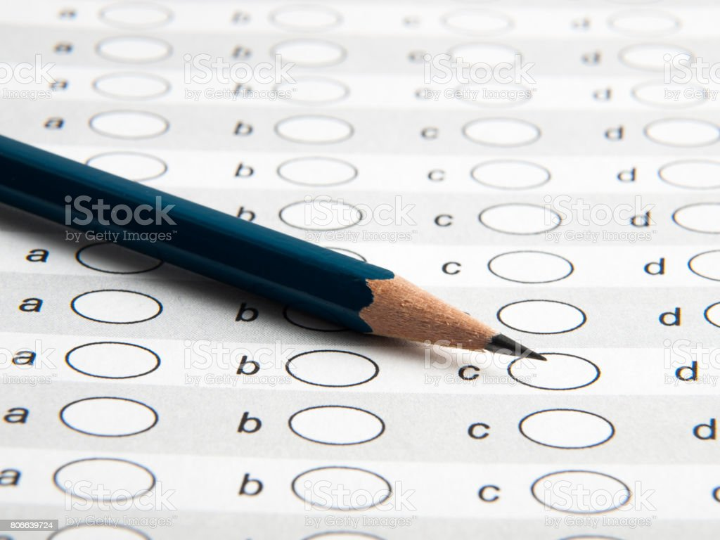 Test list with pencil stock photo