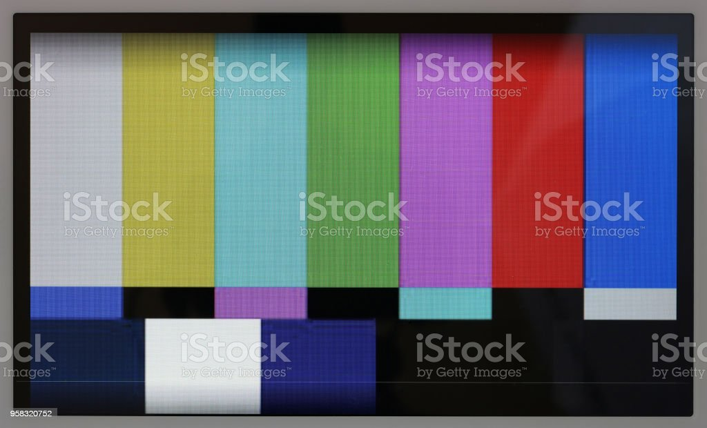 Test Pattern Of Color Television Lines On The No Name Modern