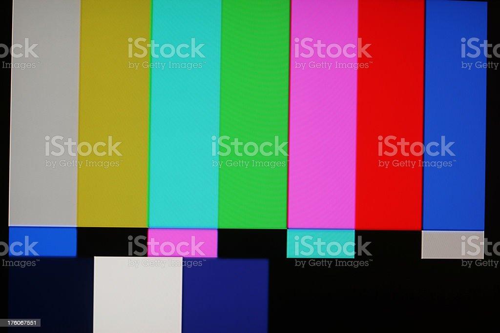 Test pattern stock photo