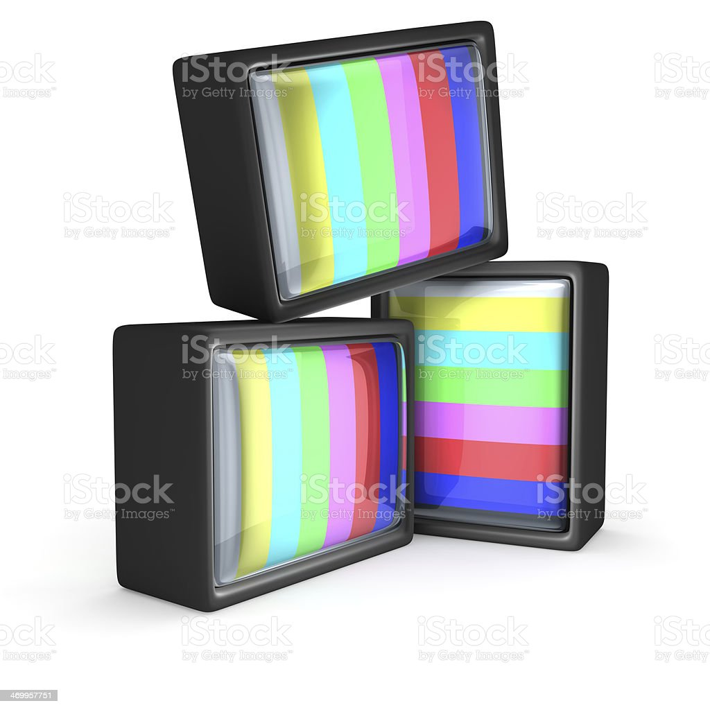 TV test pattern stock photo