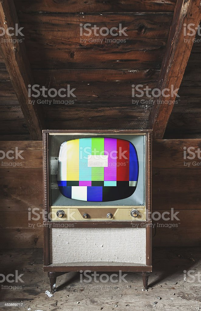 Test Pattern Television stock photo