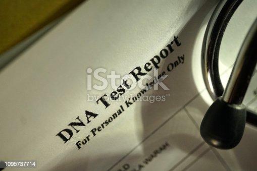 close up shot of DNA test