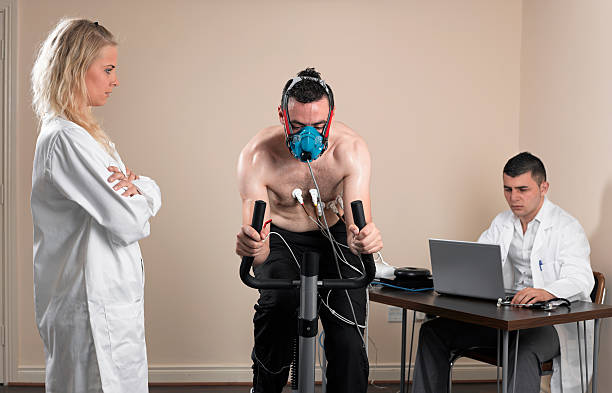 VO2 test stock photo