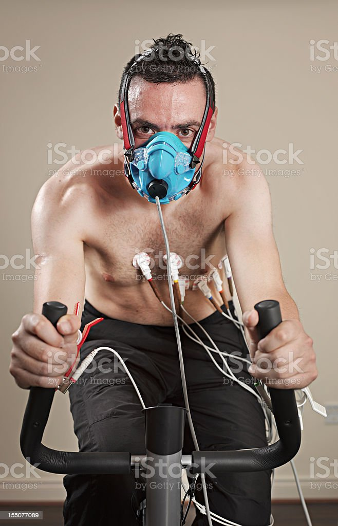 VO2 test royalty-free stock photo