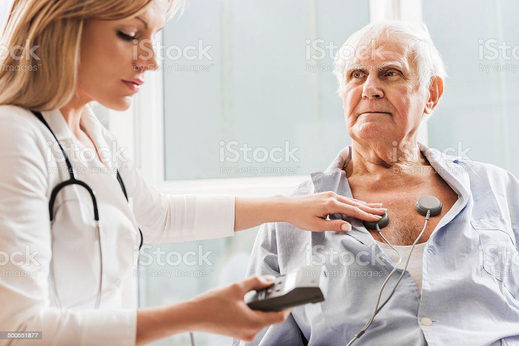 EKG test. stock photo