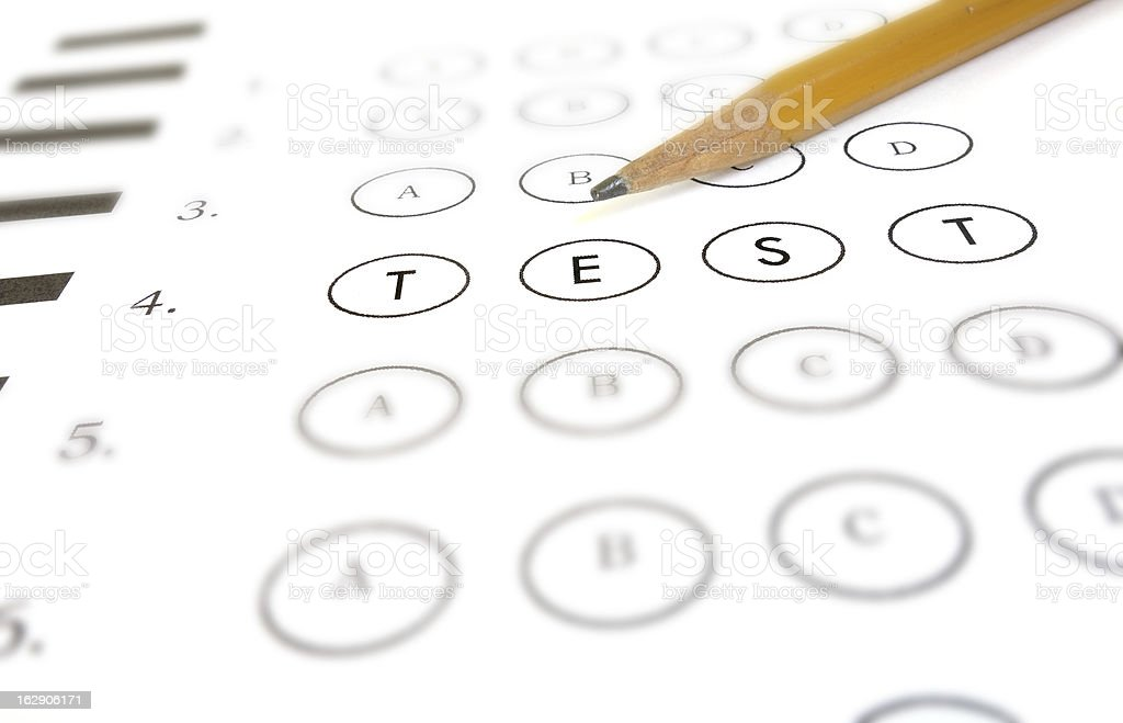 Test question stock photo
