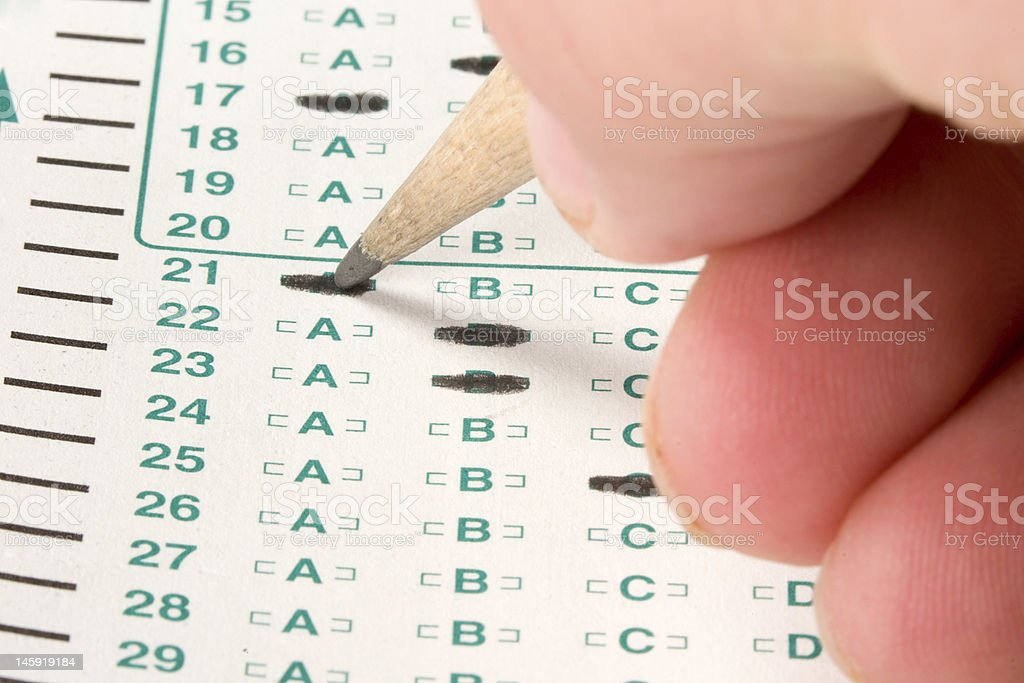 Test Quiz royalty-free stock photo