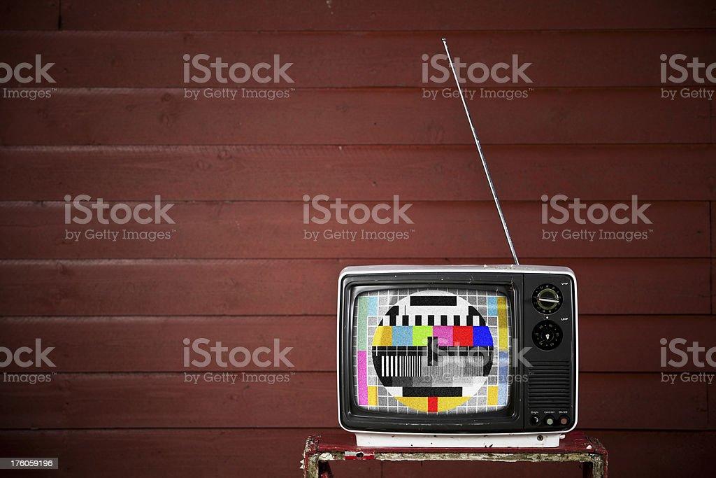 Test screen retro TV stock photo