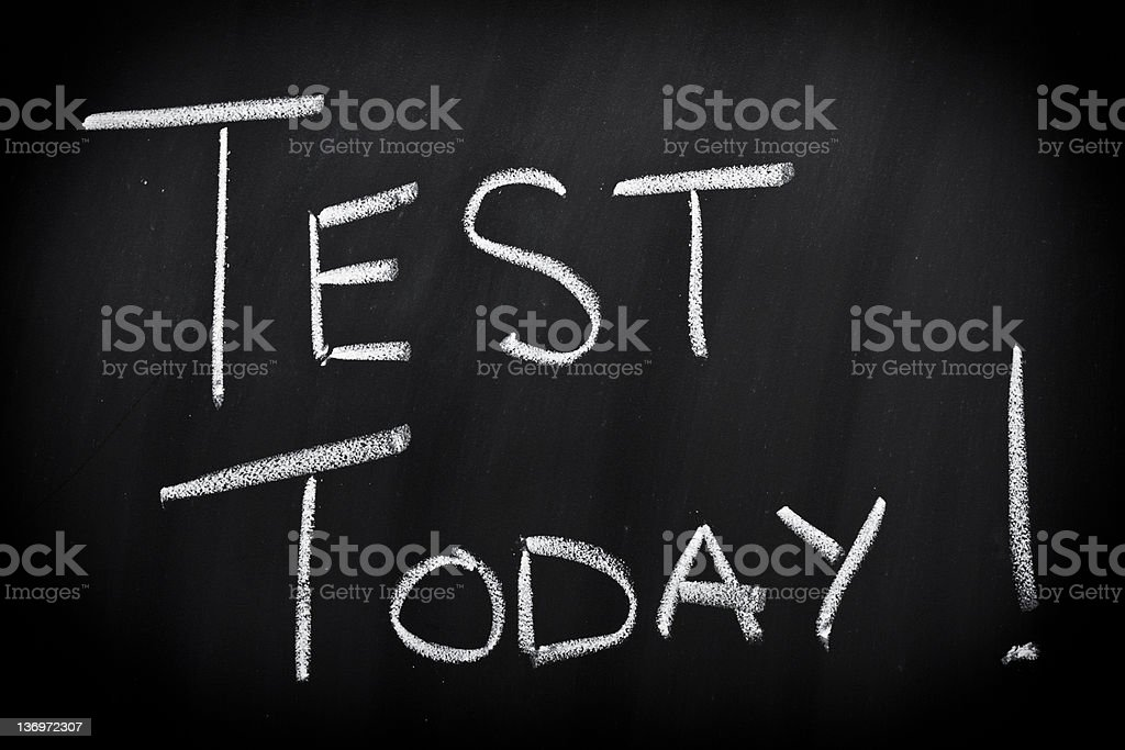 Test today royalty-free stock photo
