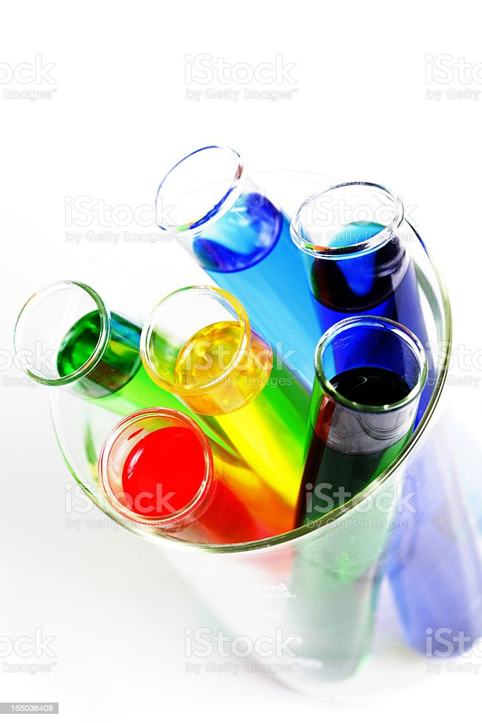 Test Tube Chemicals royalty-free stock photo