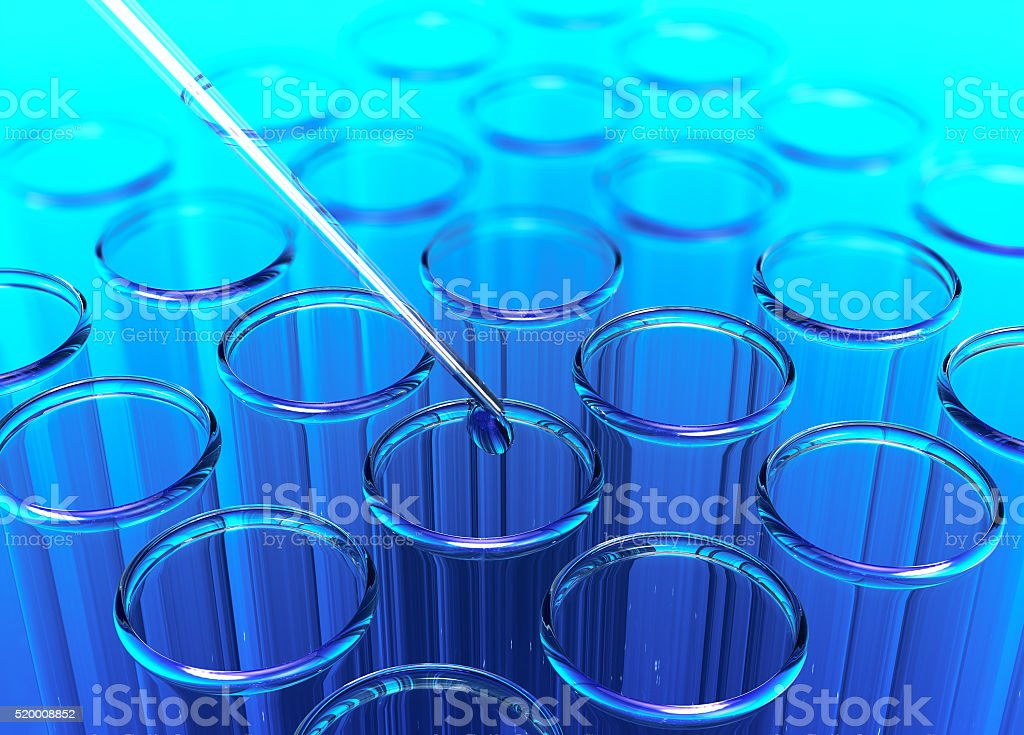 test tube, concept of scientific research stock photo