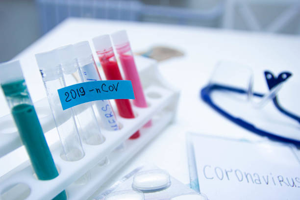 test tube coronavirus, experiments in search of a vaccine. test tube coronavirus, experiments in search of a vaccine. belarus stock pictures, royalty-free photos & images