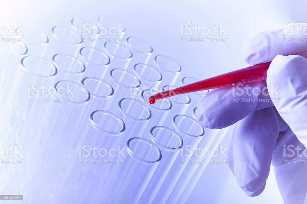 Test tube with a dropper royalty-free stock photo