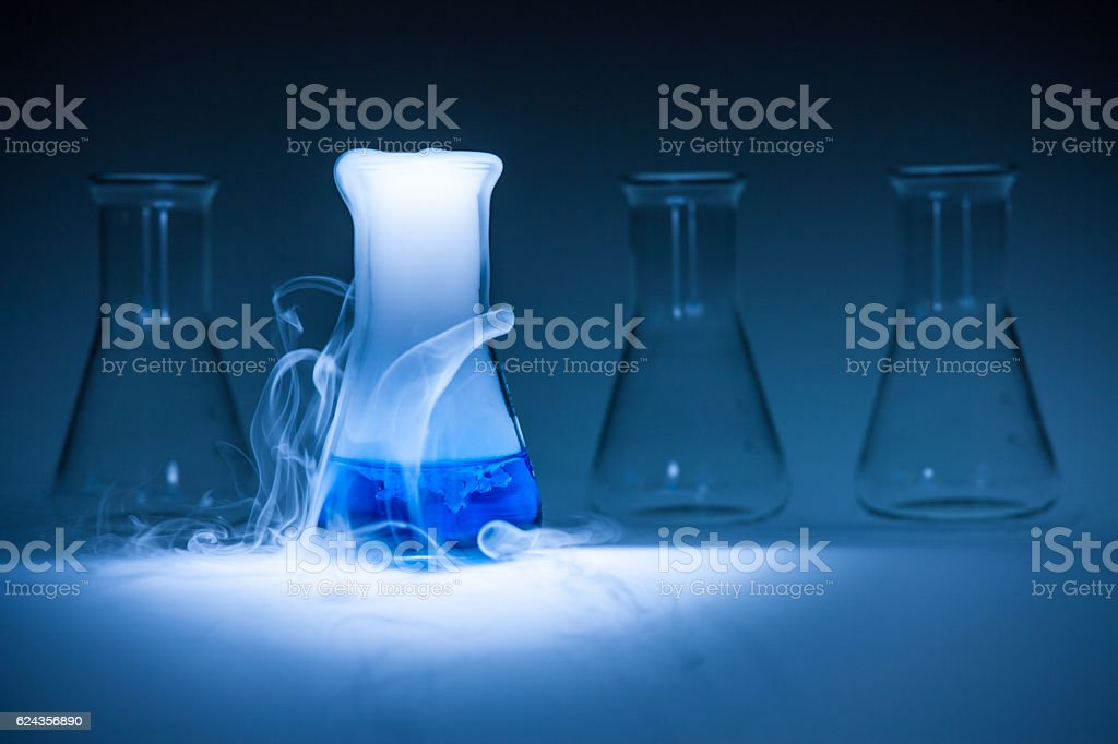 test tube with chemicals stock photo