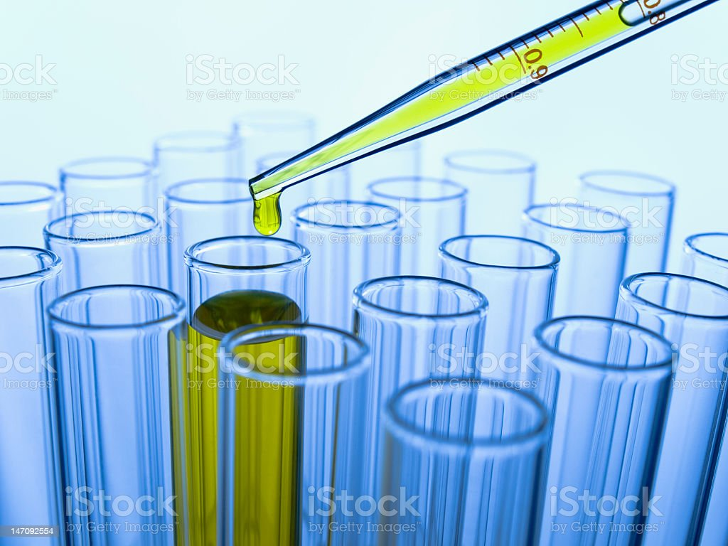 Test tubes and pipette in close up royalty-free stock photo