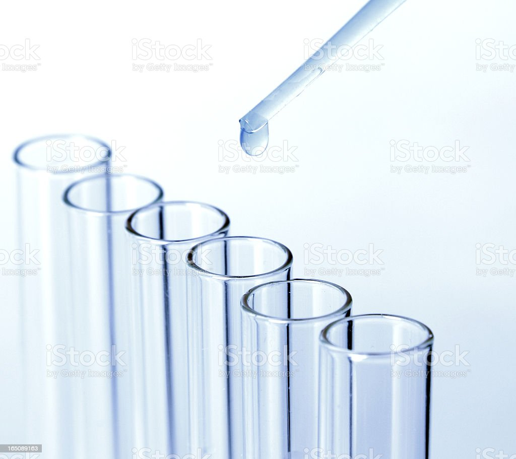 Test tubes and pipette royalty-free stock photo
