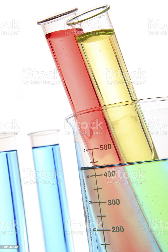 test tubes in flask royalty-free stock photo