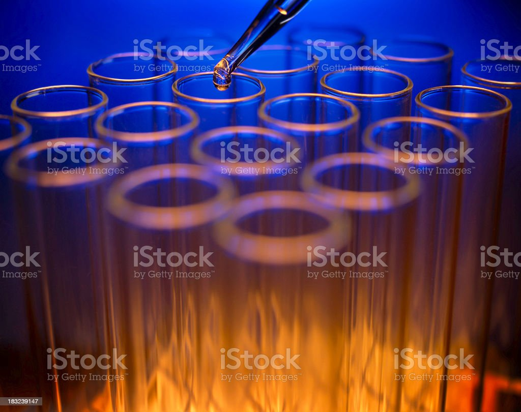 Test tubes in Laboratory Environment stock photo