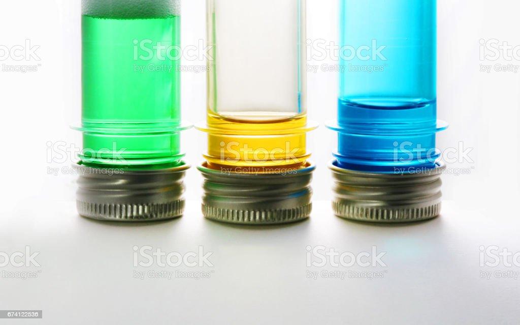 Test tubes on a white background royalty-free stock photo