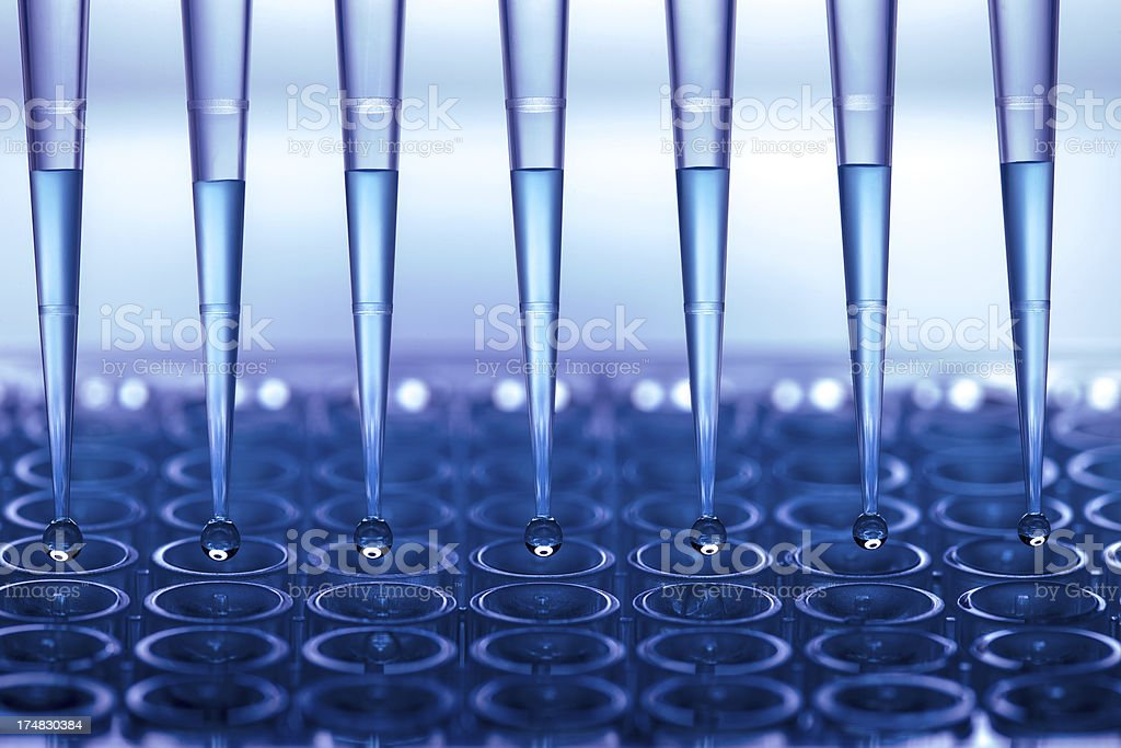 Test tubes stock photo