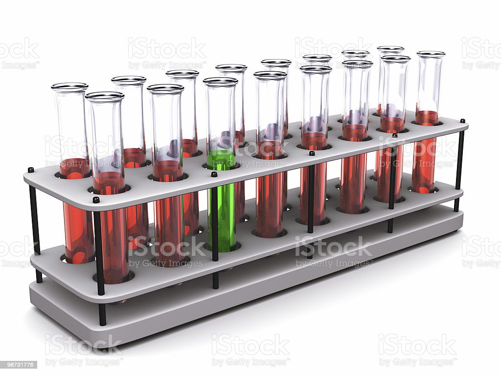 Test tubes royalty free stockfoto