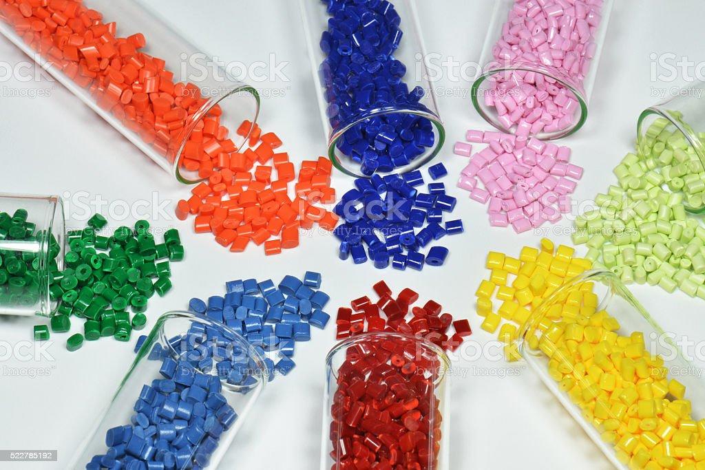 Tubos de ensayo con resina de polímero - foto de stock