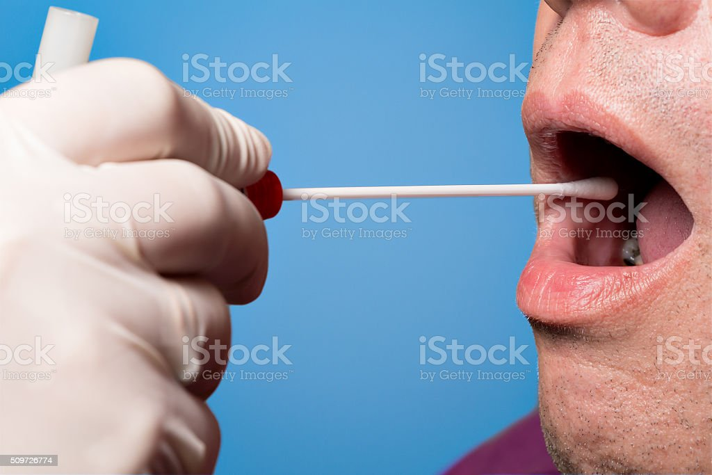 DNA, DNS test, wipe test stock photo