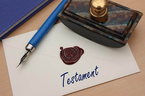 Testament Manuscrit Cacheté - Fotografie stock e altre immagini di Atto