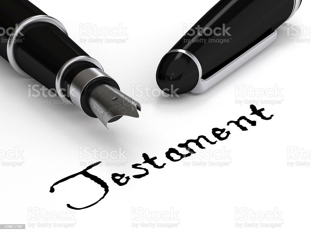 Testament Lizenzfreies stock-foto