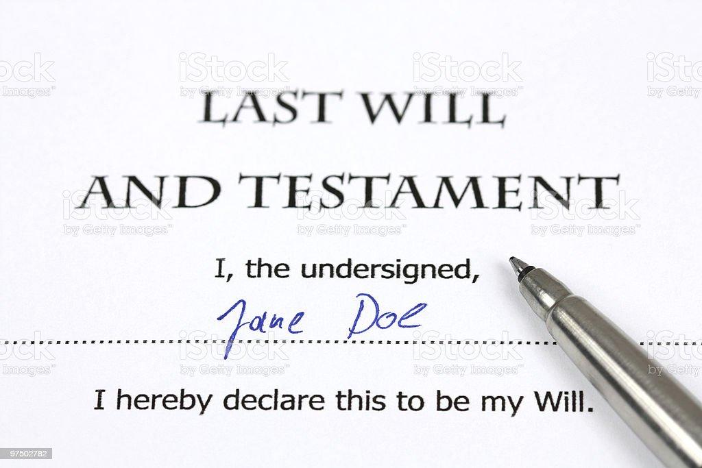 Testament royalty-free stock photo