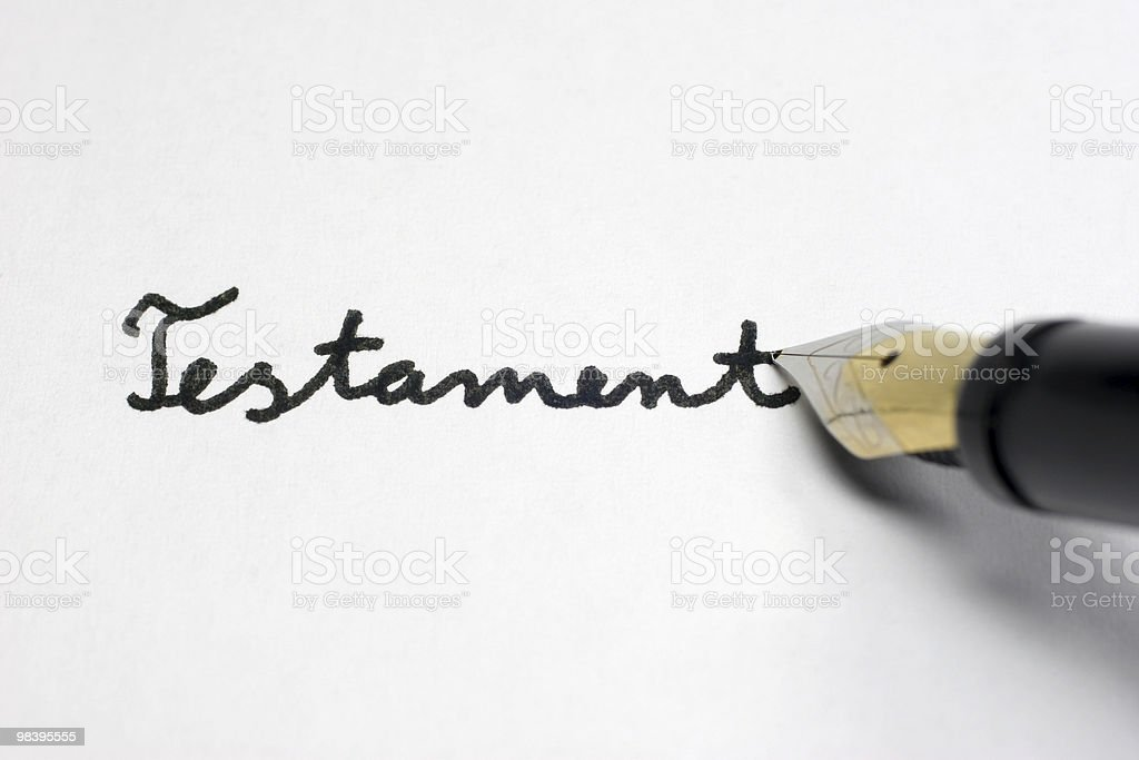 Testament royalty-free stock photo