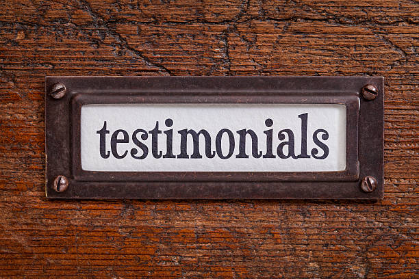 testimonials - file cabinet label - testimonial stock photos and pictures
