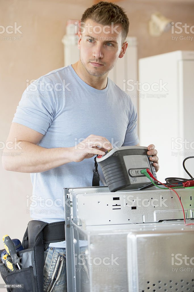 Testing Electricals royalty-free stock photo