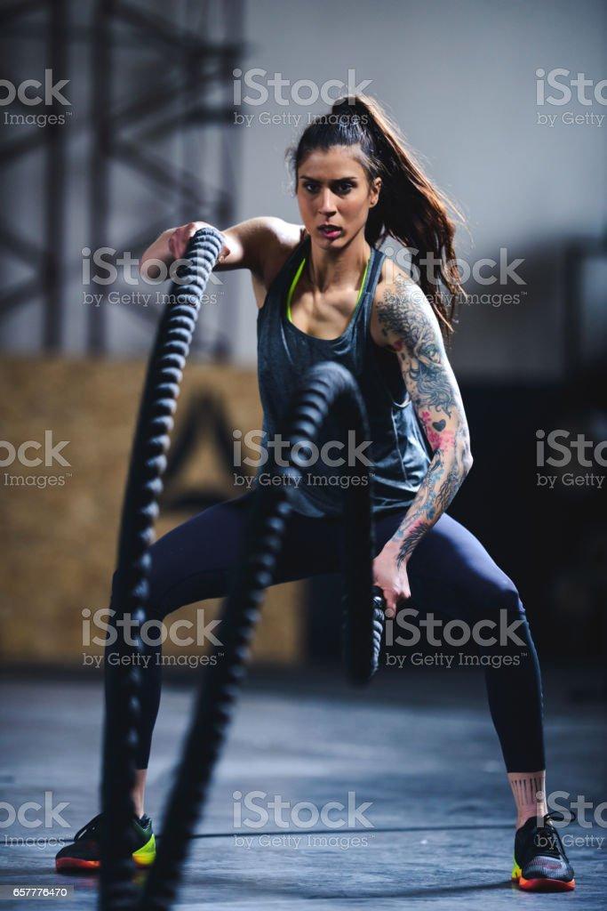 Testing endurance stock photo