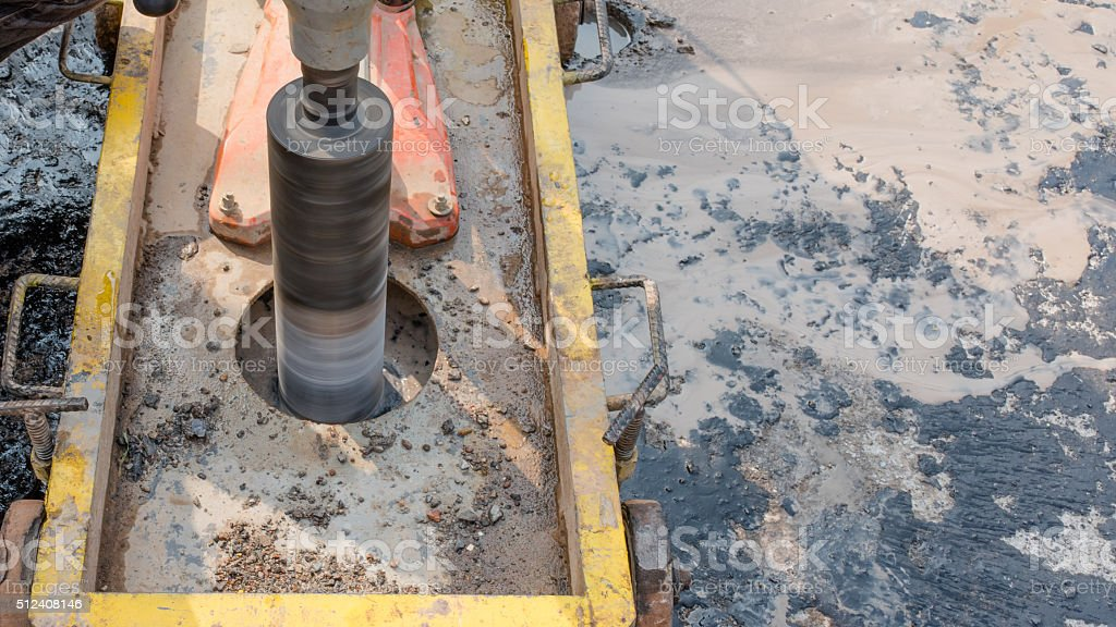 Testing for Compaction using Coring stock photo