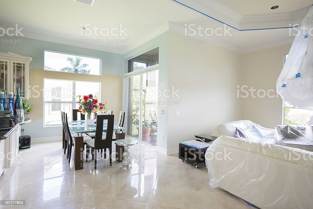 Testing Paint colors stock photo