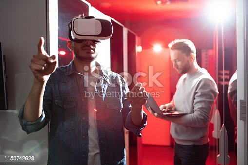 istock Testing server opportunities with virtual reality 1153742628