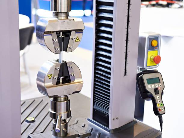 Testing tensile machine stock photo