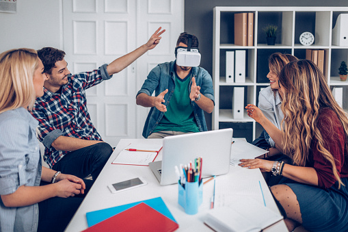 Testing Vr Equipment Stock Photo - Download Image Now