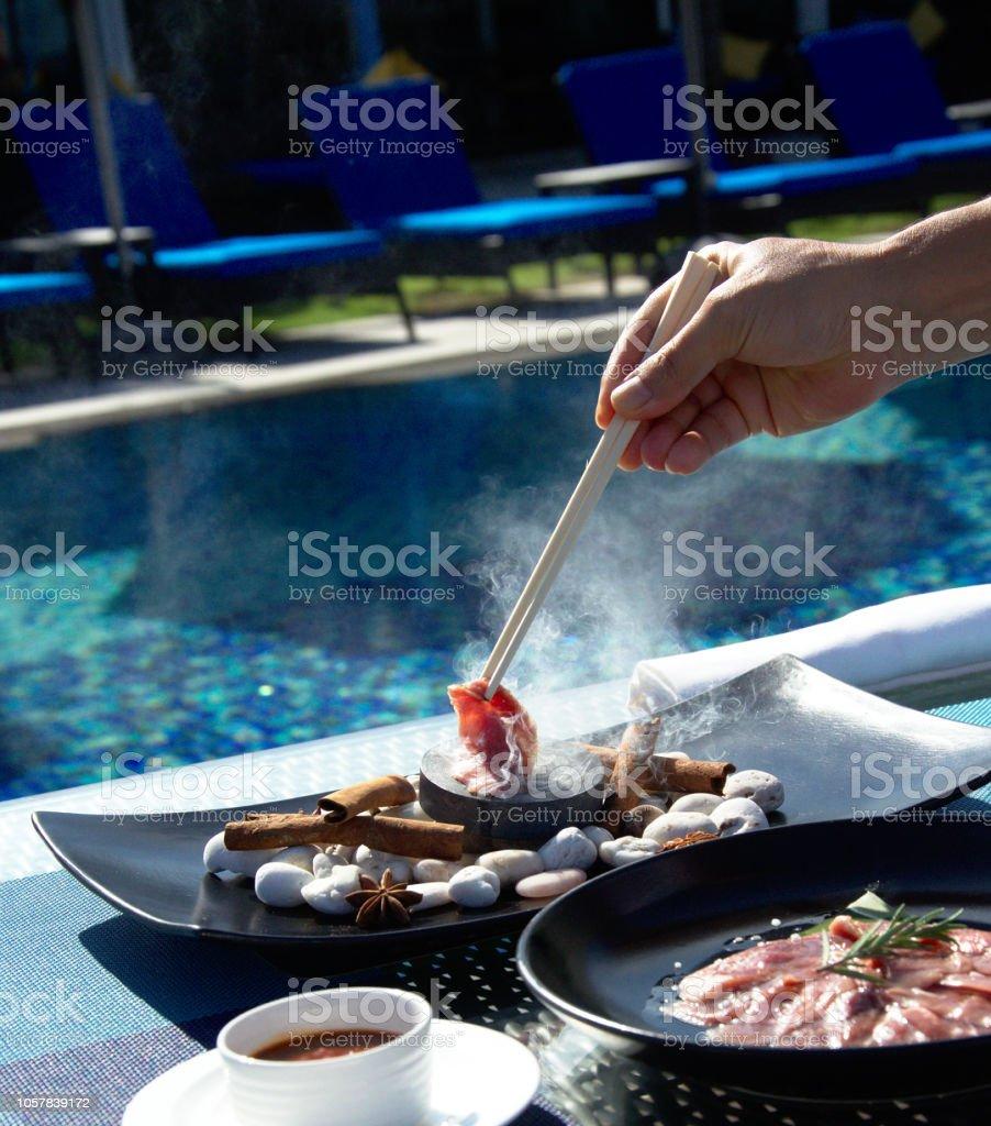 Testy Asian food stock photo