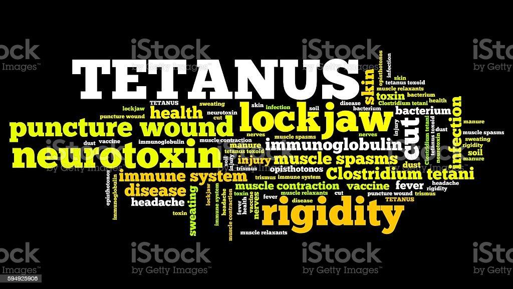 Tetanus stock photo