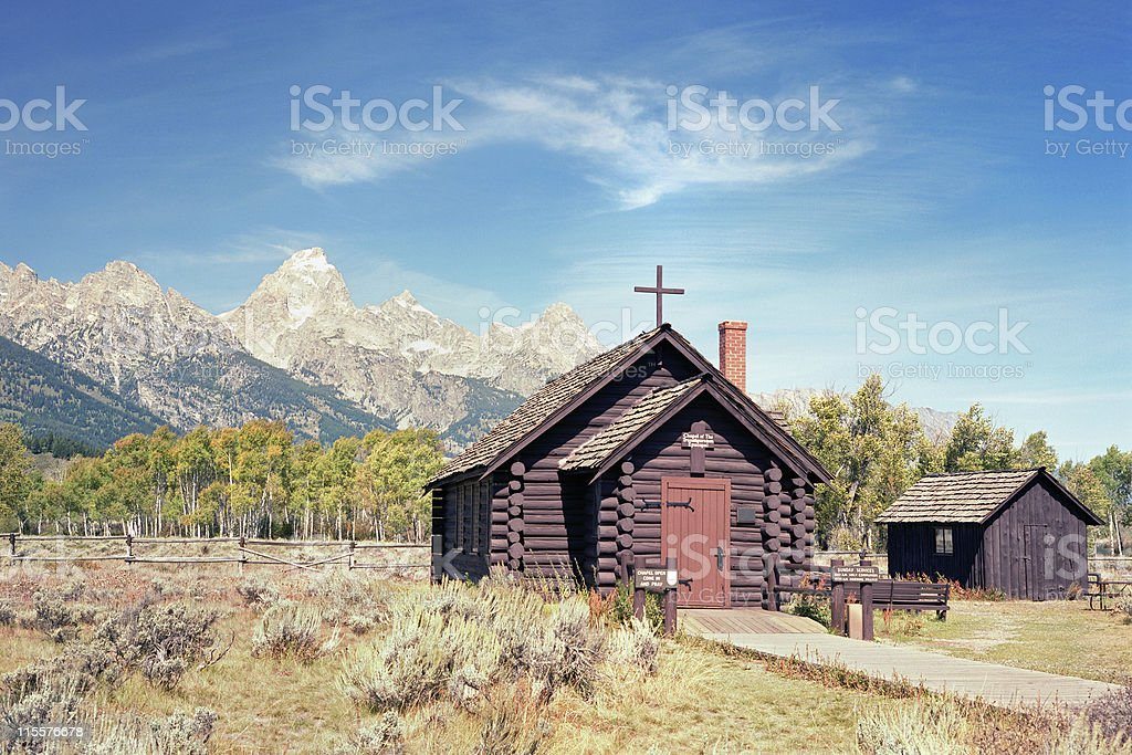 Teton Chapel royalty-free stock photo