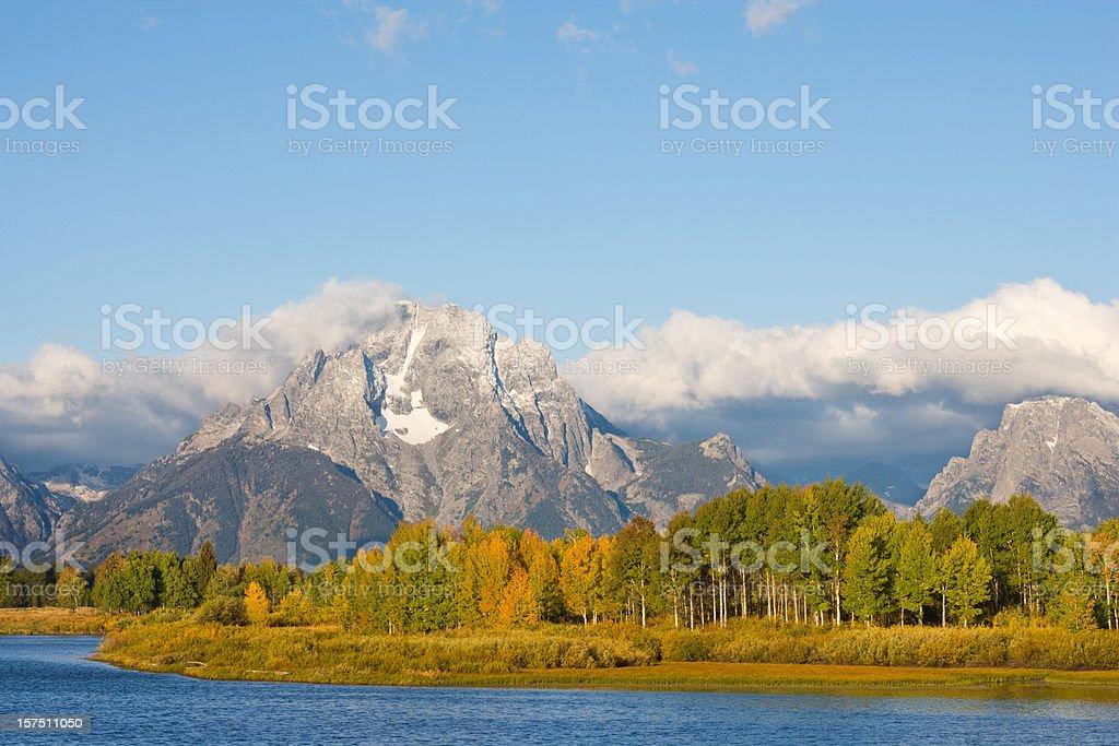 Teton Mountain Range royalty-free stock photo