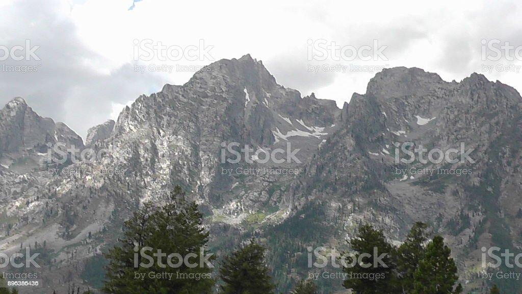 Teton Mountain Range stock photo