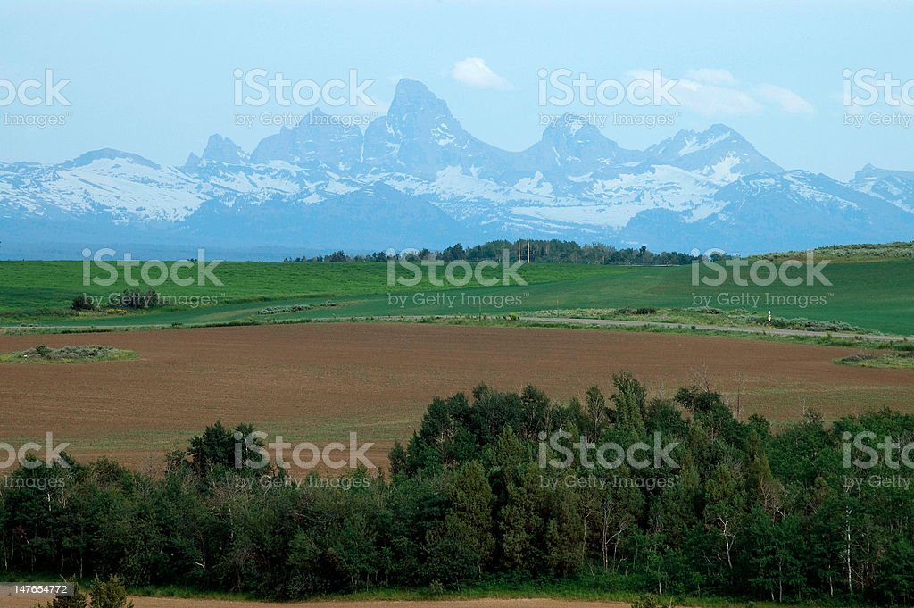 Teton Mountains Ashton, Idaho USA stock photo
