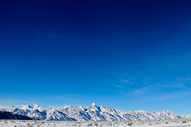 Teton Range and Big Sky stock photo