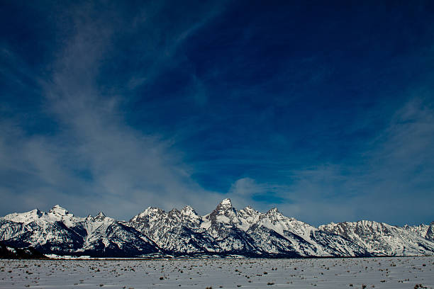 Teton Range in Winter II stock photo