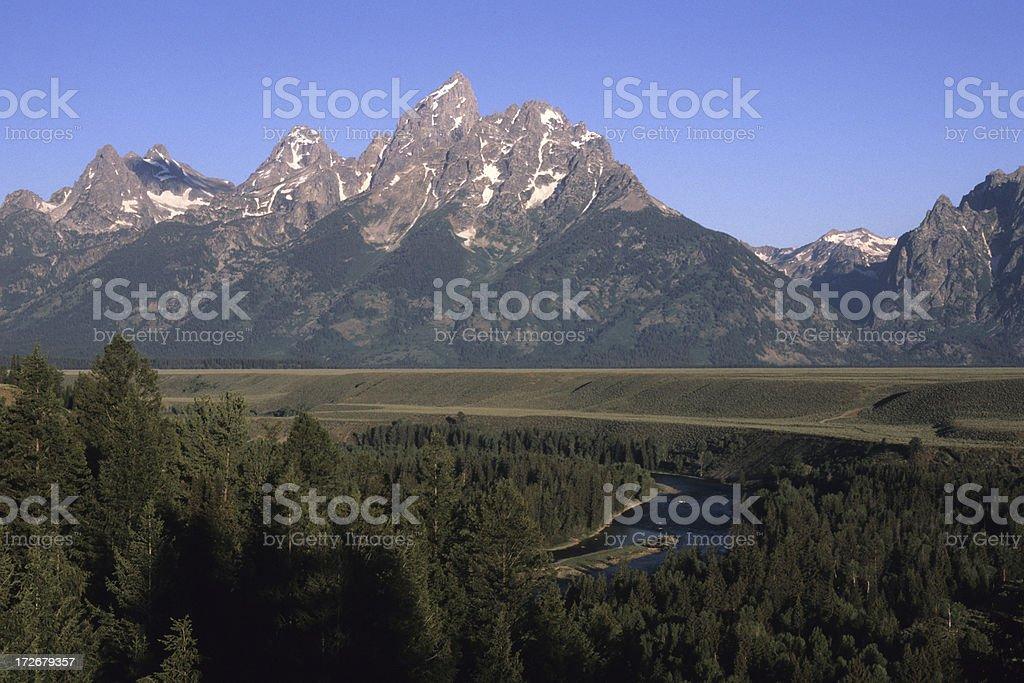 Teton Range royalty-free stock photo