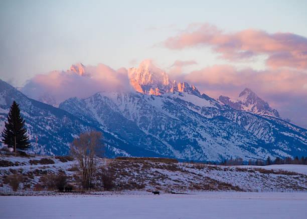 Teton Sunset II stock photo