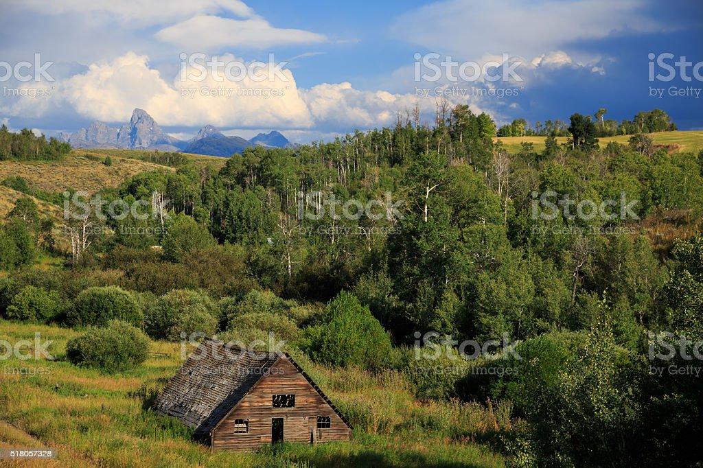 Teton Valley Barn stock photo